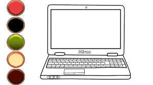 The first is labeled download which will prompt you to download the pdf version of this coloring page. How To Draw And Color Laptop Computer Coloring Pages For Toddlers Mirza Colors Kids Youtube