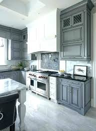 gray cabinets with white kitchen black counter dark quartz