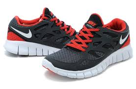 nike running shoes red and grey. black red white nike free run 2 couples running shoes and grey d