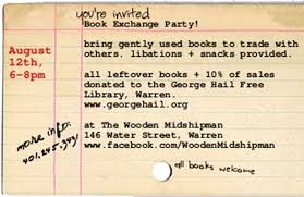 Sample Party Invite Book Exchange Party Invite Sample Kids Birthday Parties Book