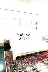 rug under king bed area best bedroom rugs for cal