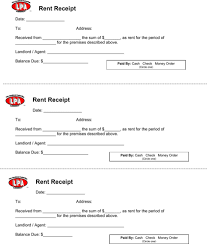 Download Rental Receipt Template For Free Formtemplate