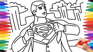 Superman coloring pages can fuel your fire for superheroes. Clark Kent Turns Into Superman Superman Coloring Pages Best Superheroes Coloring Pages Youtube