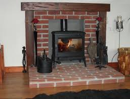 a fireplace using sus red stock brick slips