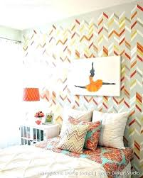 bedroom wall stencil designs colorful modern herringbone paint your own custom wallpaper look for decor pattern