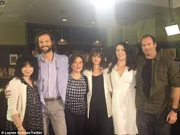 scott patterson family. eight years later: (l-r) show creator amy sherman-palladino and stars jared scott patterson family e