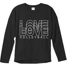 Stocked Products Love Volleyball Glitter Crew Sweatshirt