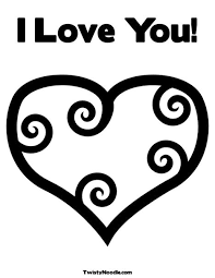 Small Picture I Love You Coloring Page from TwistyNoodlecom Valentines Day