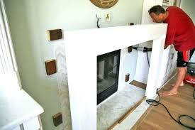 build fireplace mantels building a surround and securing designs how to bookcase fire