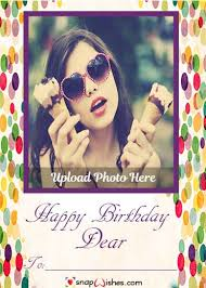 birthday wish photo frame editing