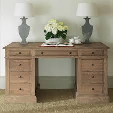 Weathered Oak Furniture William Pedestal Desk Weathered Oak Oka Us