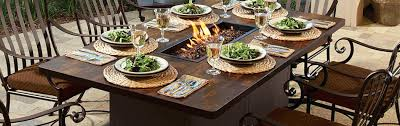 outdoor dining table with fire pit fire pit dining tables outdoor dining table fire pit