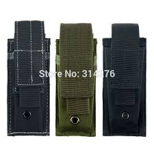 Magazine Belt Holder Tactical Molle Single Pistol Mag Magazine Pouch FlashlightTool 45