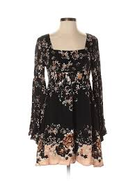 Details About Free People Women Black Casual Dress Sm Petite