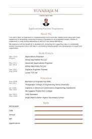 Applications Engineer Resume Samples Visualcv Resume Samples Database
