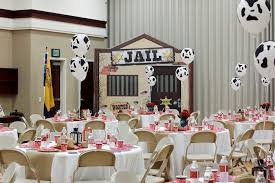 partyscape guest tables from a western themed cub scout blue gold banquet via kara s