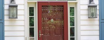 full view glass red storm door