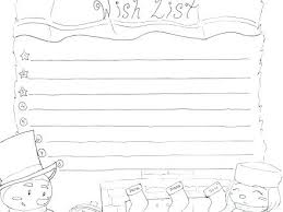 Christmas List Coloring Page Colouring Pages Santa Wish Merry