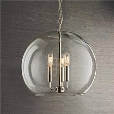 glass bowl sphere chandelier source shades of light
