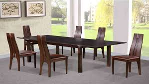 dining table and 6 chairs in beechwood dark walnut