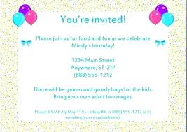 Word Template For Birthday Invitation Birthday Invitation Templates Free Sample Example Of Letter