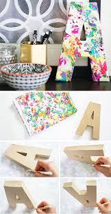 diy floral monogram diy crafts tips
