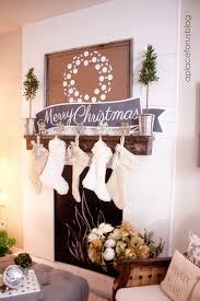 Christmas Mantel With Free Printable Banners Just Destiny
