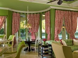 Pink And Green Walls In A Bedroom Curtain Ideas For Green Walls