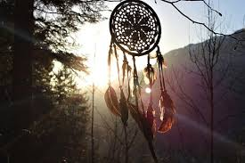 dream catcher feather sunset forest