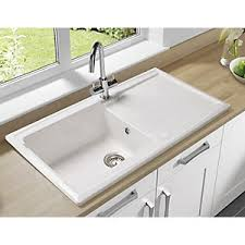 Image Afa Stainless Ebay Wickes Contemporary Bowl Ceramic Kitchen Sink White