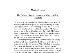 essay on lady macbeth co essay on lady macbeth