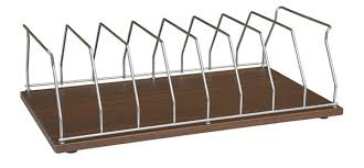 Chart Rack Holder 8 Capacity Woodgrain