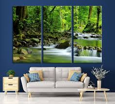 large wall art waterfall canvas print
