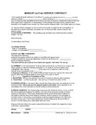 makeup artist contract sle fill printable fillable throughout makeup artist contract template