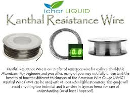 Ppt Kanthal Resistance Wire Guide Chart By Ichor Liquid