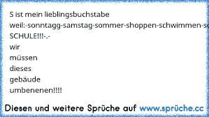 S Ist Mein Lieblingsbuchstabe Weil D Sonntag Samstag Sommer Shoppen
