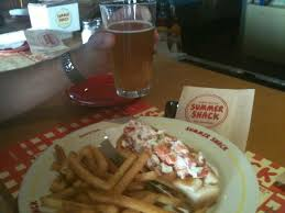 summer shack lobster roll and sam adams