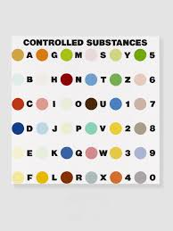 damien hirst controlled substance key painting 1994