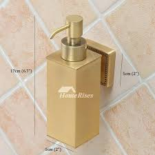 vintage wall mount soap dispenser brass gold bathroom best unique retro mounted
