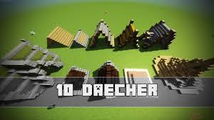10 Einfache Dach Designs Minecraft Tutorial