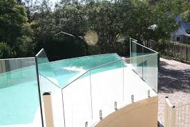 semi frameless glass pool fence with stainless steel posts and gate
