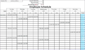 Shift Schedule Templates Free Word Excel Format Download Weekly