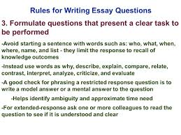 edu session writing supply items short answer and essay rules for writing essay questions 3