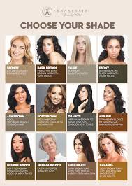 Anastasia Beverly Hills Brow Chart Choose Your Shade Cult
