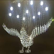 oval crystal chandelier new design large chandeliers modern bird lighting for hotel lobby re lamp wagon