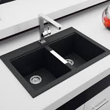 sinks black granite sink kitchen sink double sniks bow plumbing artika elegant design