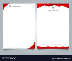 Letterhead Designs Templates Abstract Creative Letterhead Design Template Red Vector Image