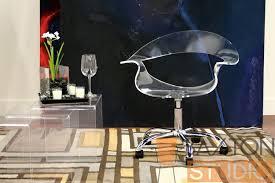 acrylic office chair. elia acrylic swivel office chair