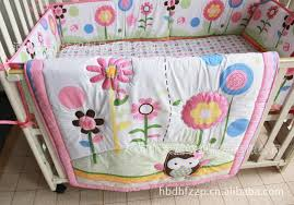 Pure Cotton Baby Bedding Set Embroidery Cartoon Owl Sunflower Baby ... & 1pc Mattress Cover(Fitted):130*70+25cm Adamdwight.com