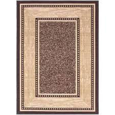 non skid area rugs contemporary bordered design brown 5 ft x 6 in slip rug grip proof home depot